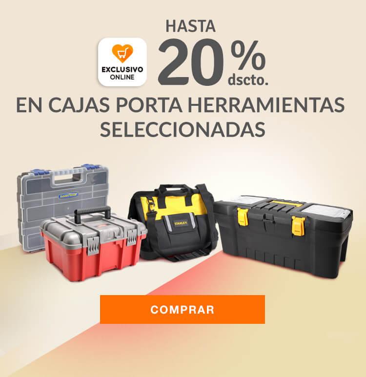 Mobile: Exclusivos online: Hasta 20% de descuento en Cajas porta herramientas