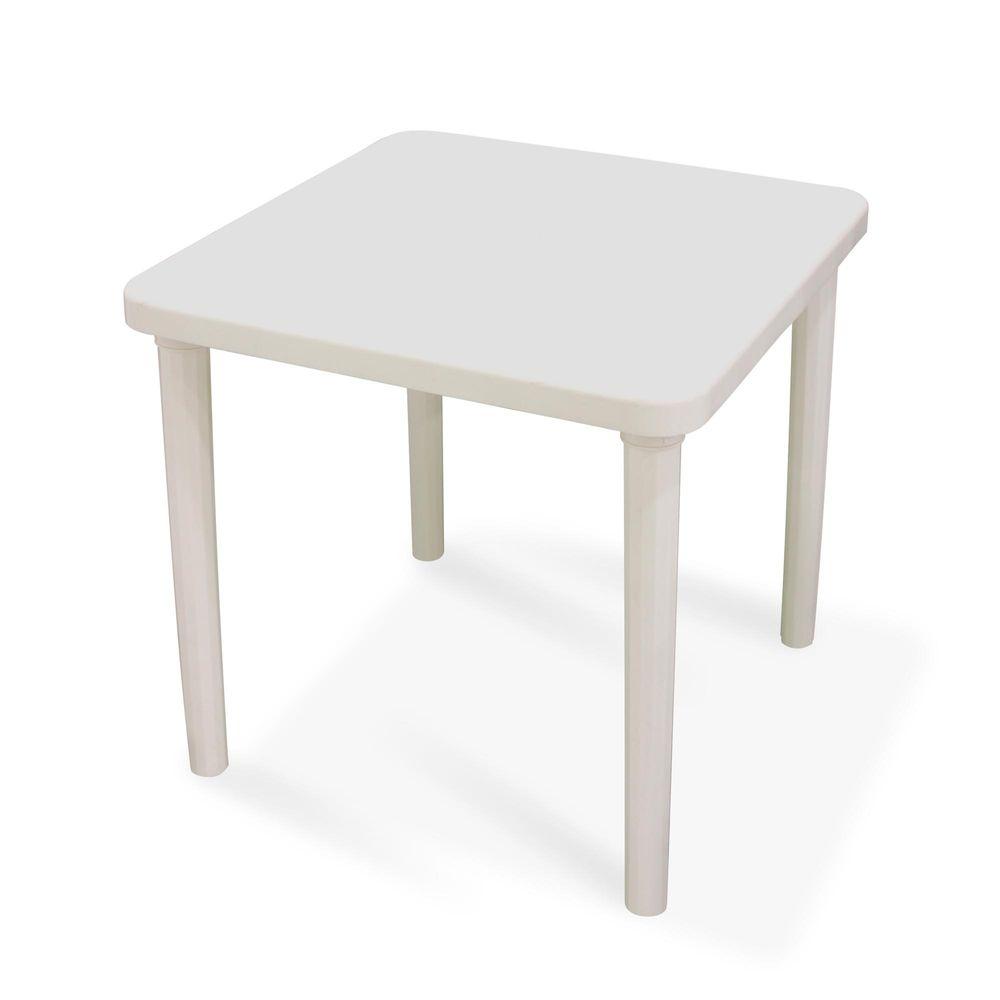 Mesa de pl stico cuadrada kina blanca promart for Mesas de jardin de plastico