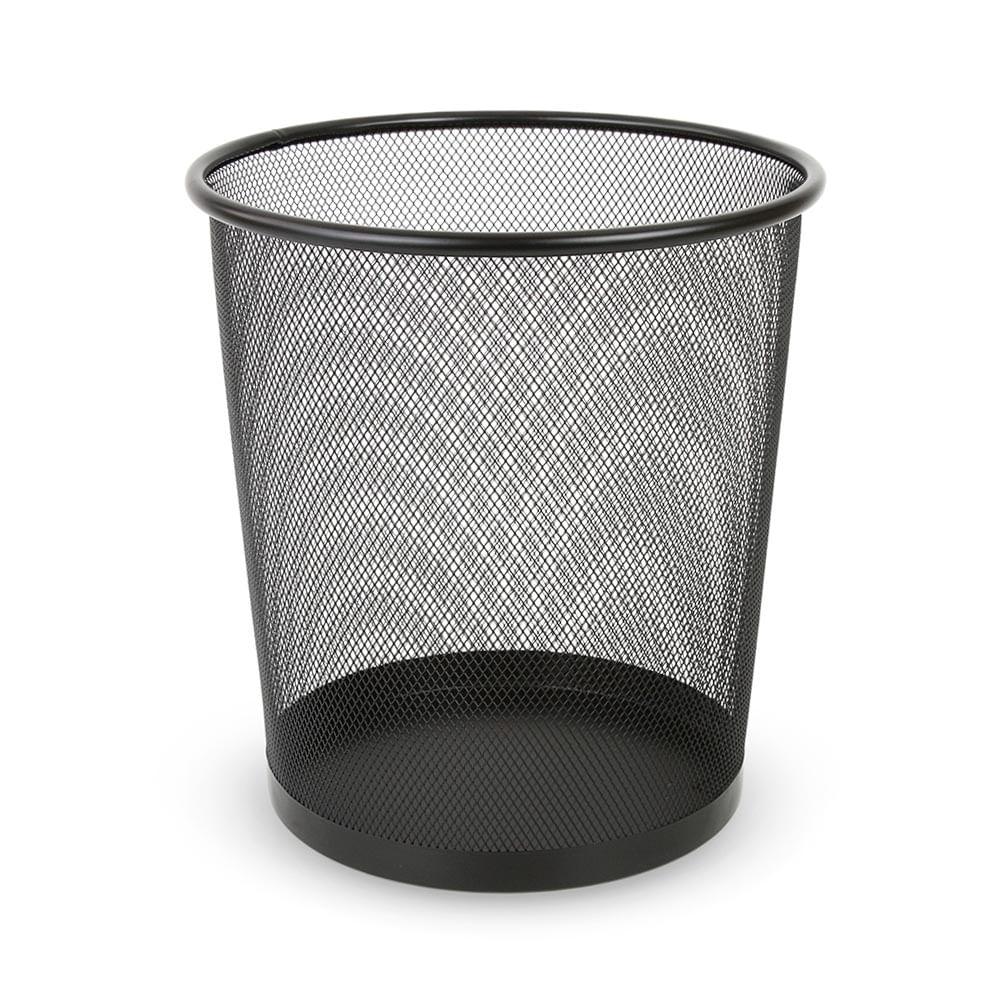 papelera para oficina mesh negro promart