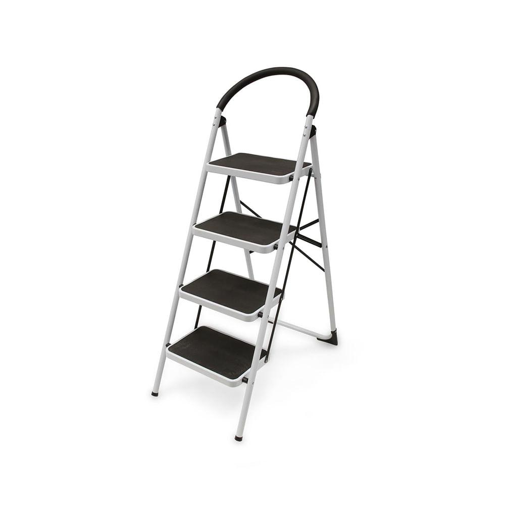 Escalera tijera de acero 4 pasos promart for Escaleras dielectricas precios