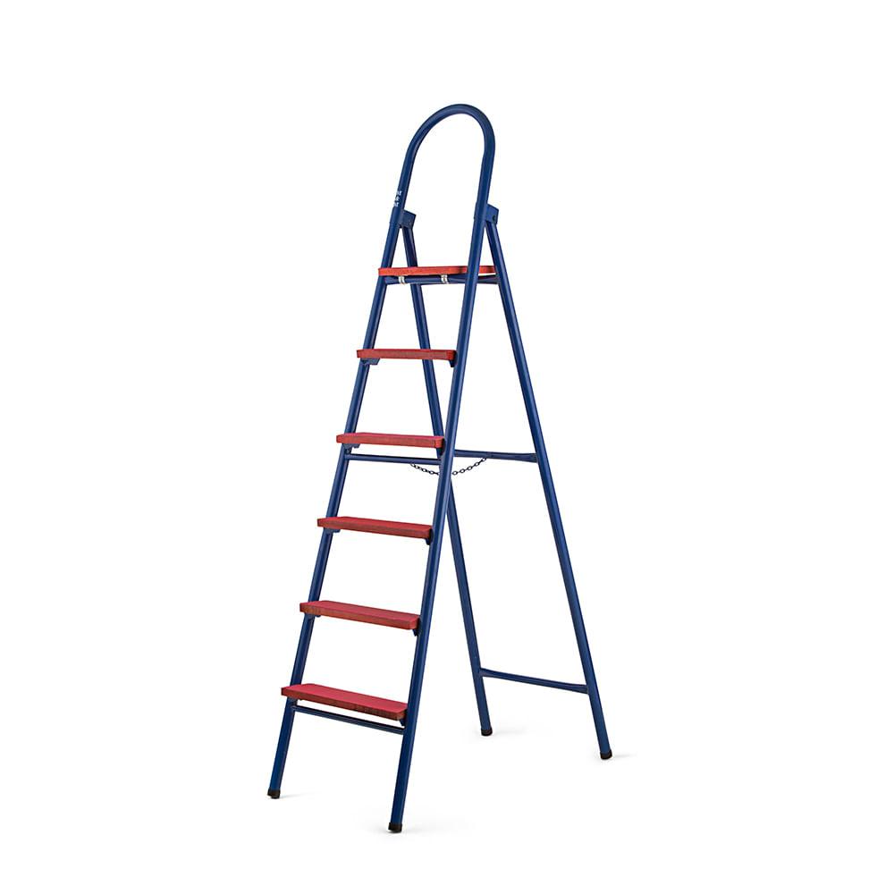 Escalera met lica de 6 pasos promart for Escalera metalica plegable precio