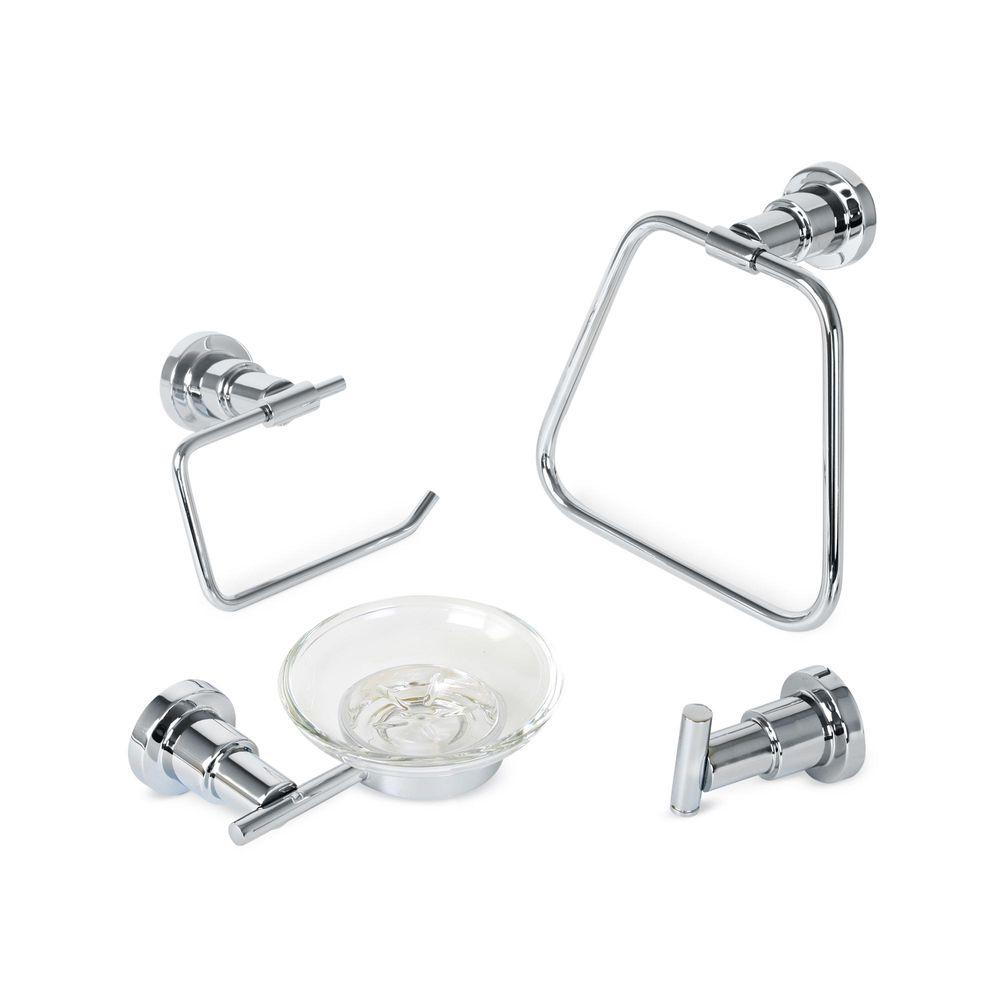 Set de accesorios de ba o liguria 4 piezas promart for Set accesorios bano