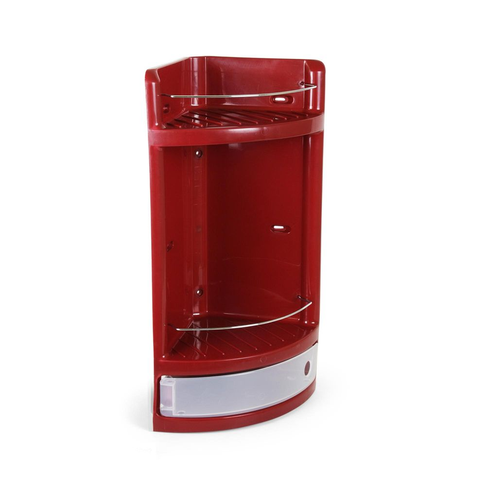 Organizador de ducha esquinero con gavetero Guinda - Promart