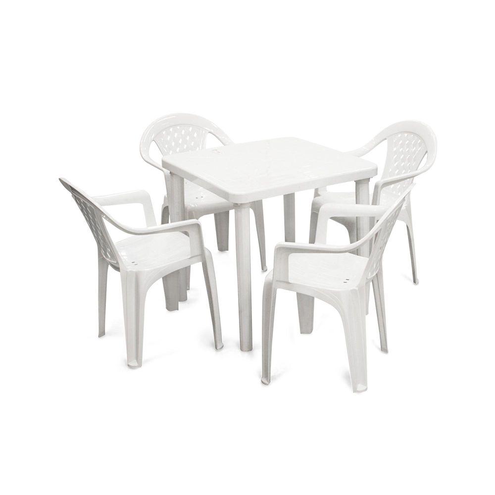 Comedor de pl stico kina 1 mesa y 4 sillas promart for Sillas plasticas comedor
