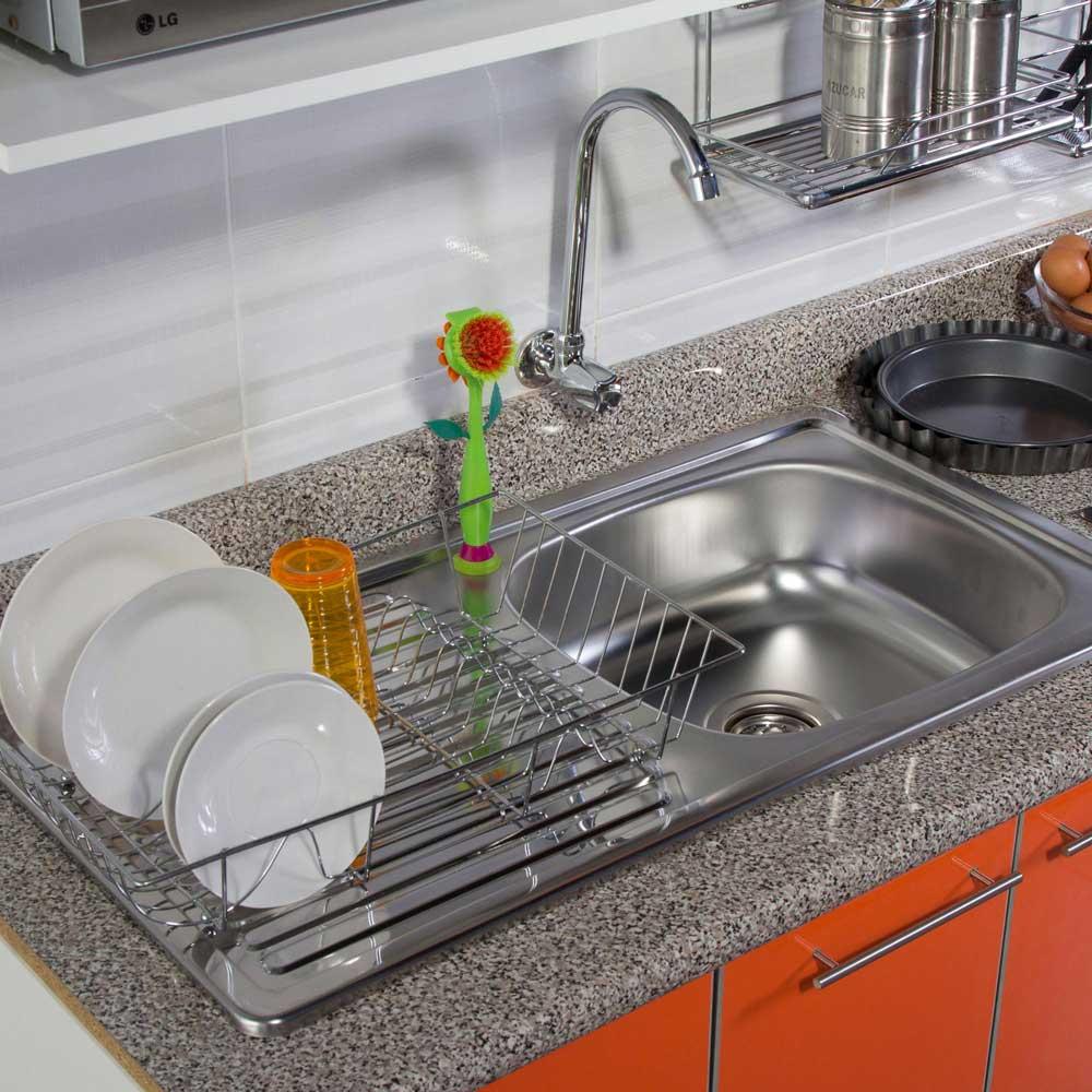 Lavadero 1 poza con escurridor 46 x 89 cm promart for Lavadero de cocina con mueble