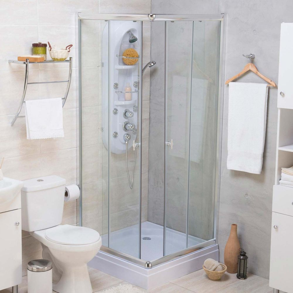 puerta de ducha cuadrada 5mm 80x80x195 cm promart