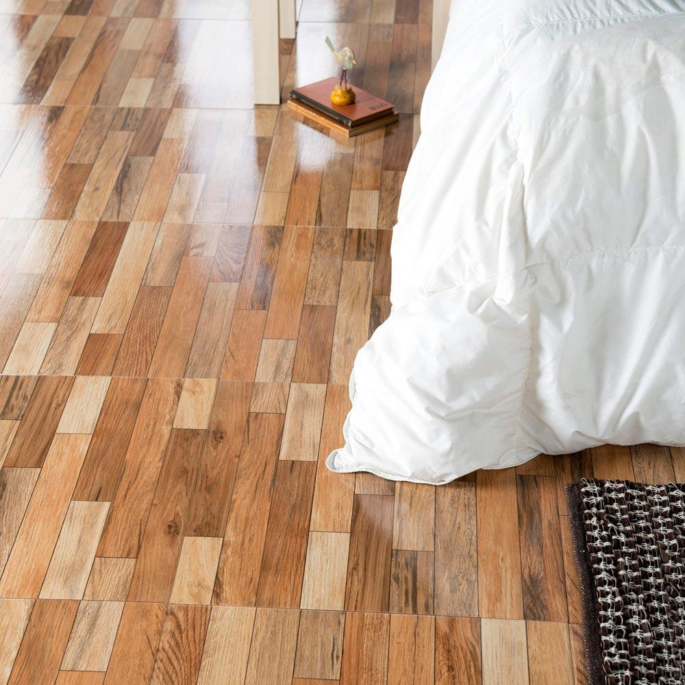 Piso cer mico maderado parquet olivo 46x46 cm caja for Compro ceramica para piso