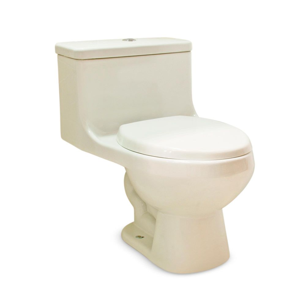 Baño One Piece Trebol:Inodoro One Piece Advance + Asiento Blanco – Promart