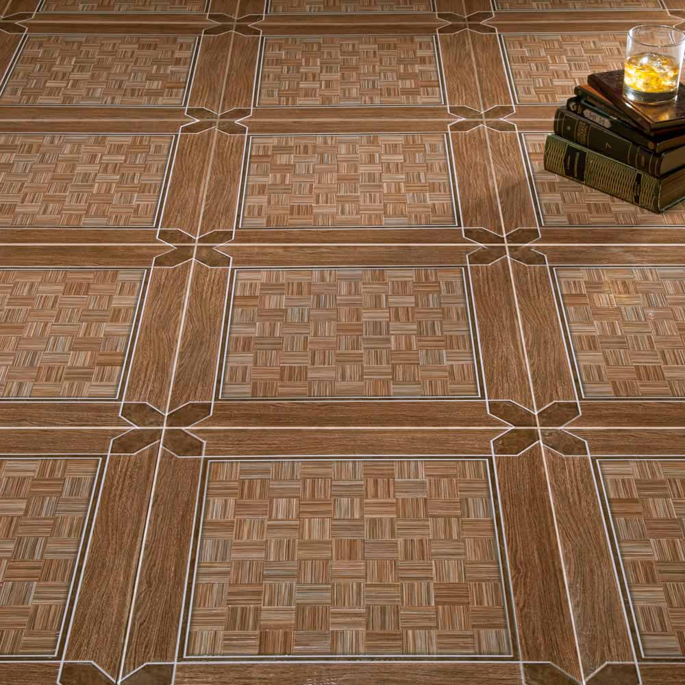 Piso cer mico maderado decor lef 44x44 cm caja for Vitropiso para sala