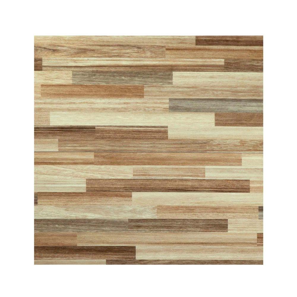 Piso cer mico maderado dallas beige 45x45 cm caja for Precio colocacion piso ceramico