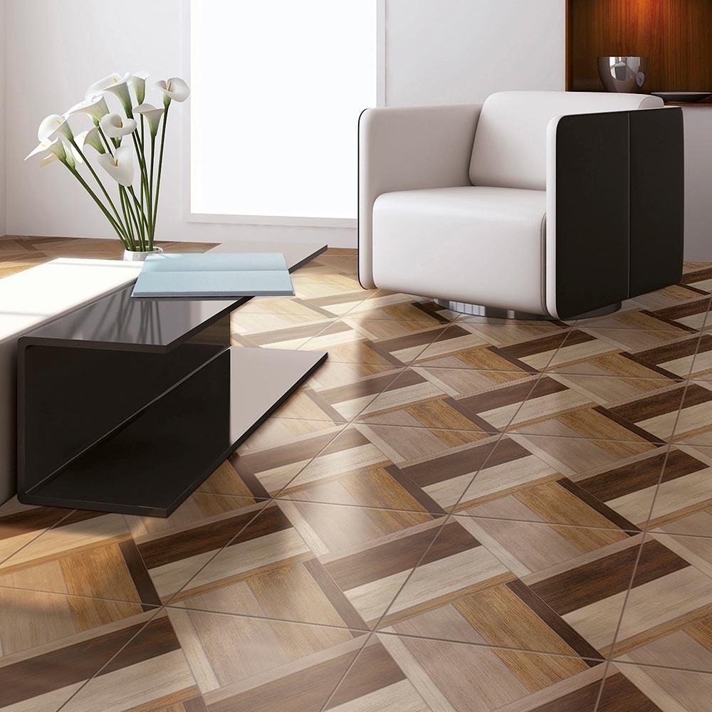 Piso cer mico maderado austin natural 45x45 cm caja 2 for Tipos pisos para interiores casas