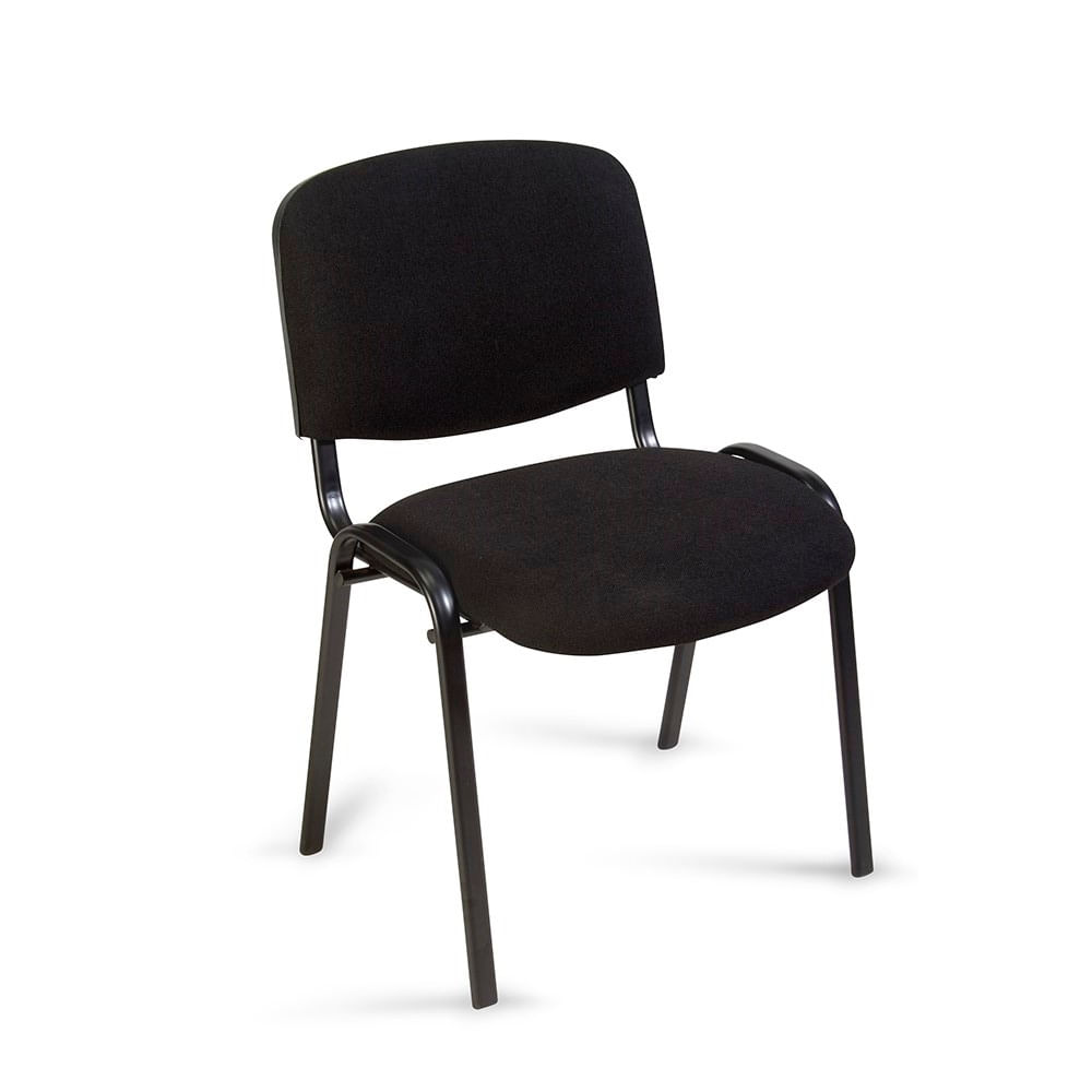 Silla fija estambul negra promart for Sillas para oficina precios