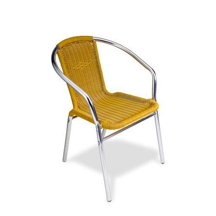 Silla de terraza aluminio rat n promart - Mesas y sillas de terraza ...