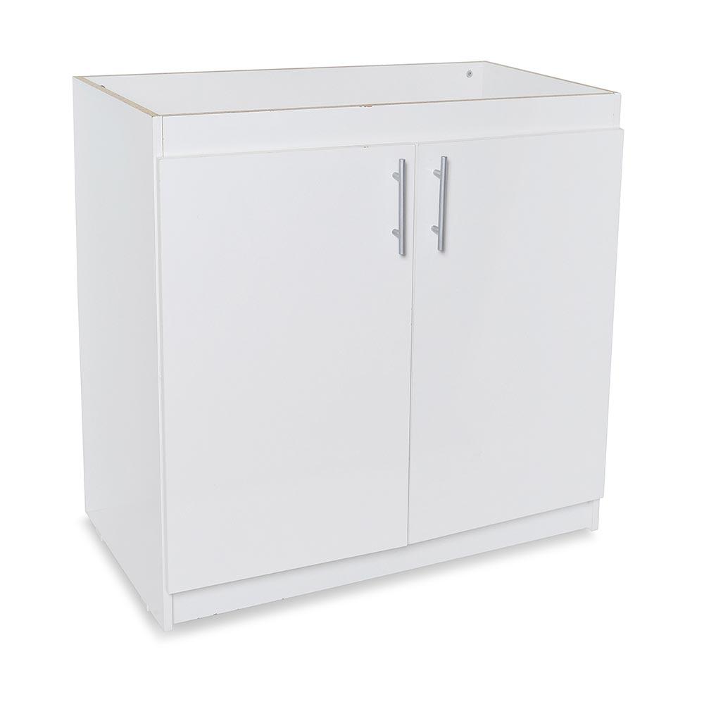 Mueble para cocina bajo lavadero 88 cm blanco promart for Muebles bajos para cocina