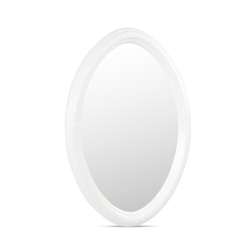 Espejo para ba o ovalado fibra blanco promart for Espejo ovalado blanco