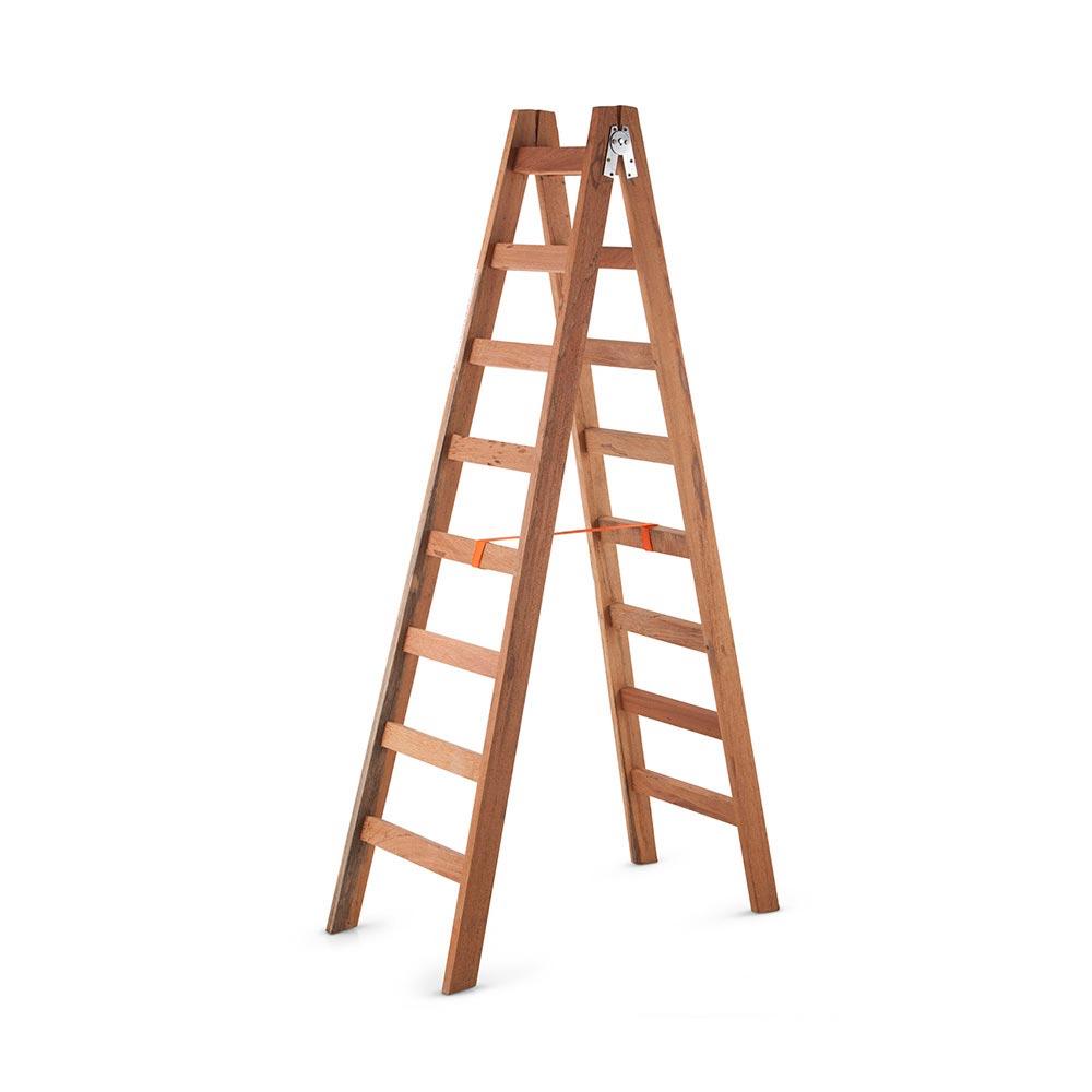 Escalera tijera de madera 8 pasos promart for Escalera de jardin de madera
