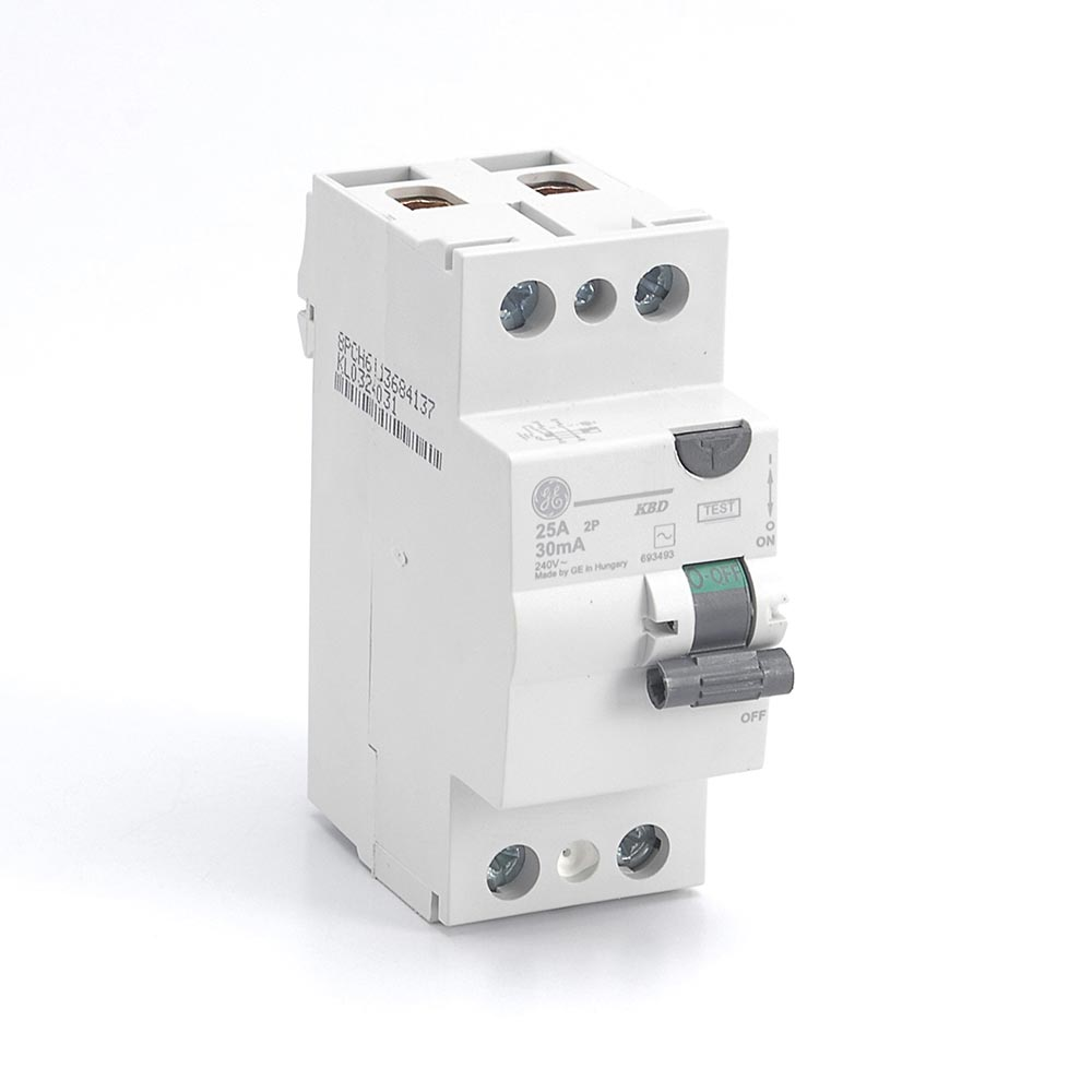 Interruptor diferencial 2x25a riel din 30ma promart for Diferencial general electric