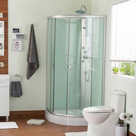 Cabina para ducha ovalada 5mm 4 jets - Promart