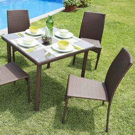 Comedor-de-exterior-de-ratan-1-mesa---4-sillas