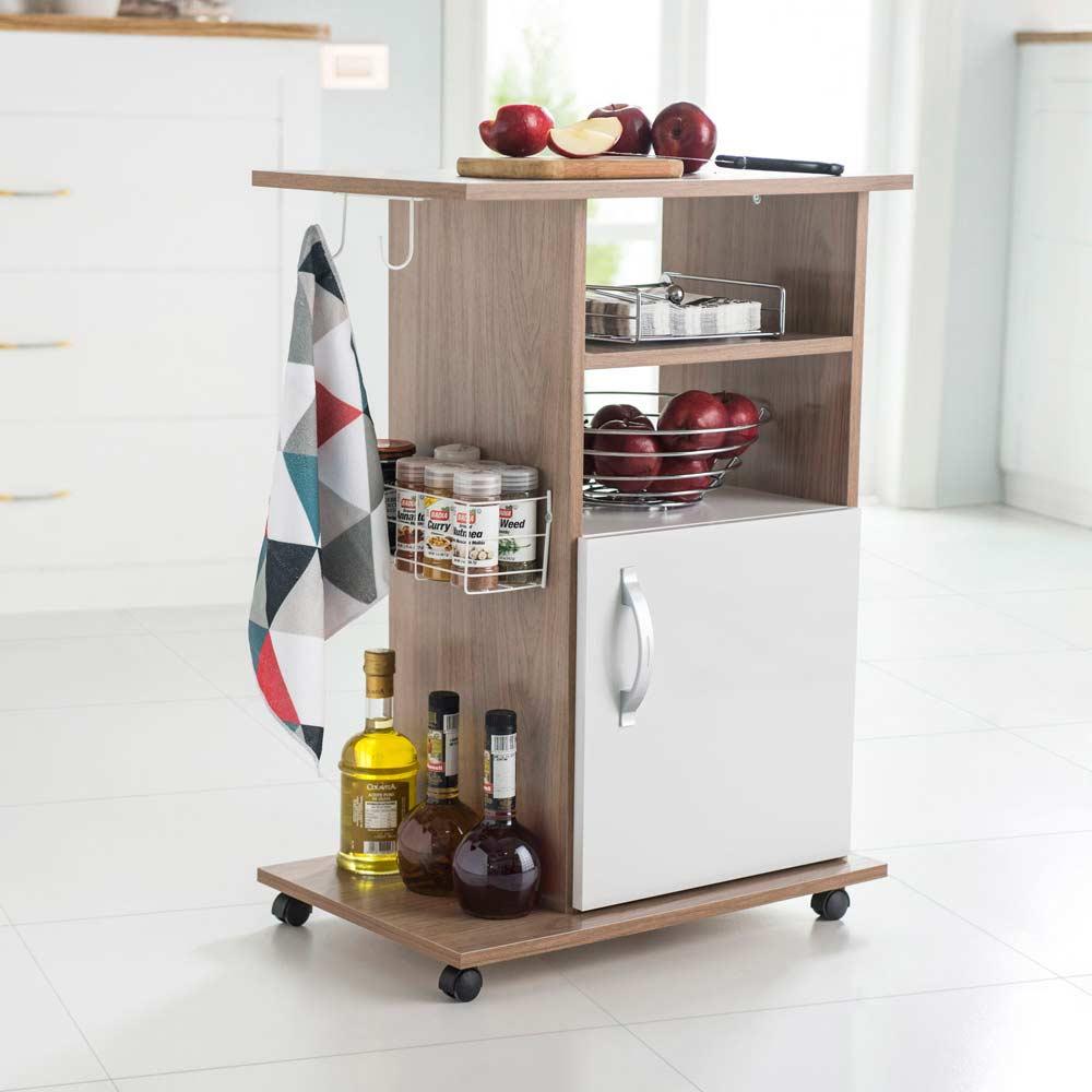 Mueble multiusos arcilla promart for Mesa carrito auxiliar de cocina