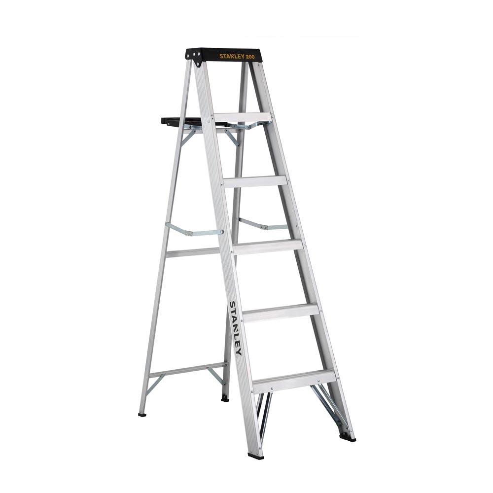 Escalera tijera de aluminio 6 pasos promart for Escaleras tijera