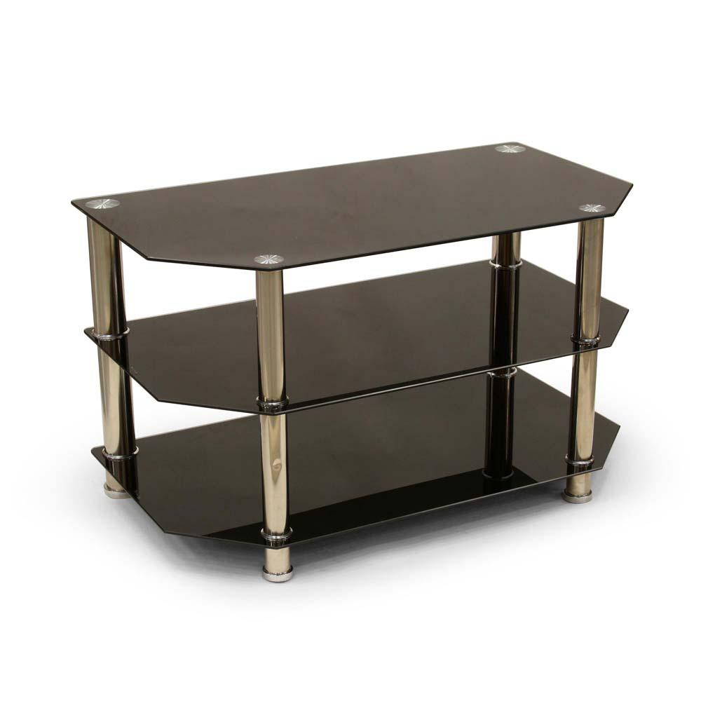 Mesa de tv b sica de vidrio promart - Cuanto cuesta cristal para mesa ...