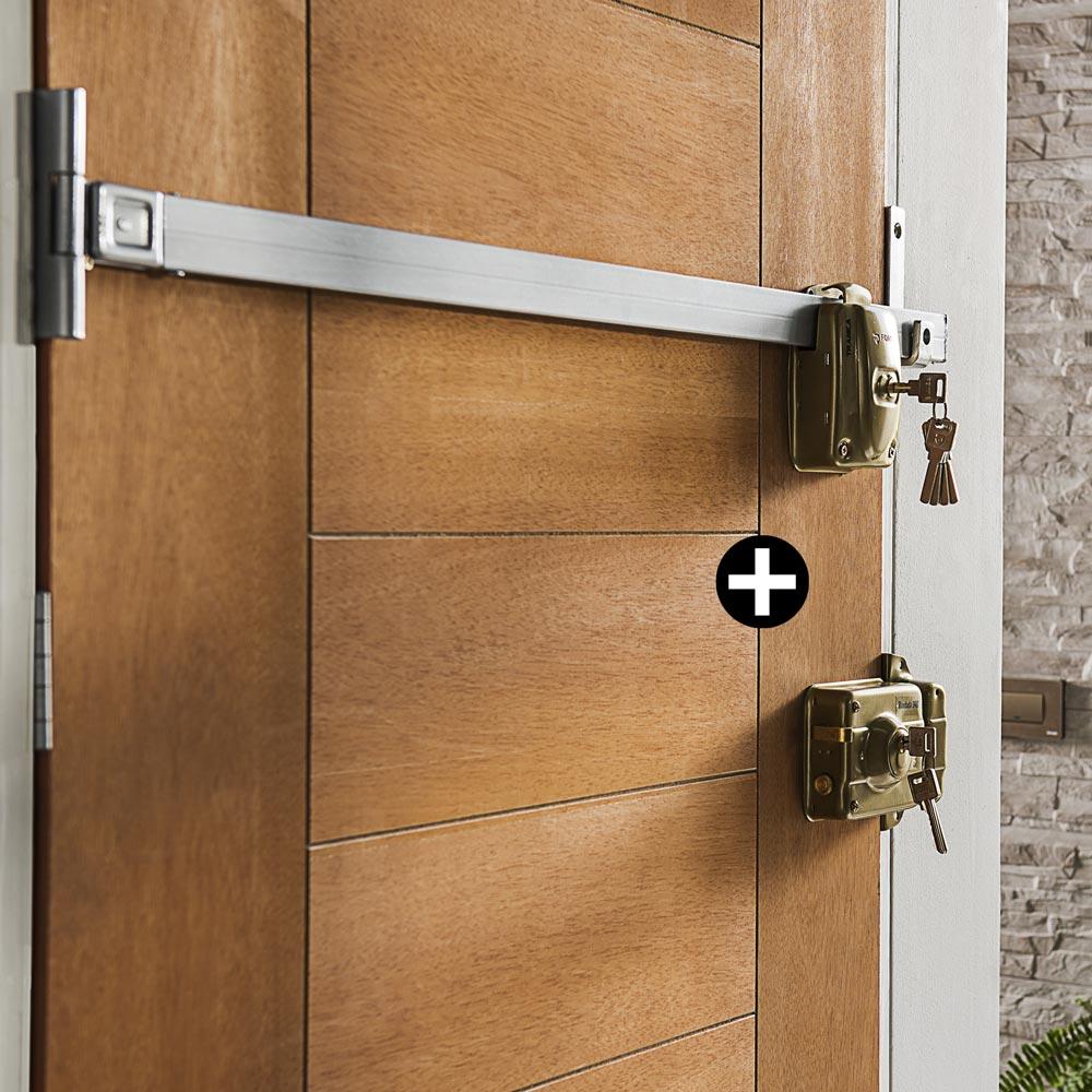 Combo tranca forte enigma cerradura blindada promart - Sbarra di sicurezza per porte ...