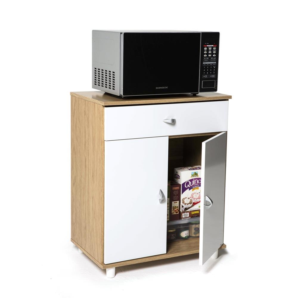 Armarios auxiliares de cocina mueble microondas battery mueble auxiliar cocina almacenaje de - Auxiliar cocina ...