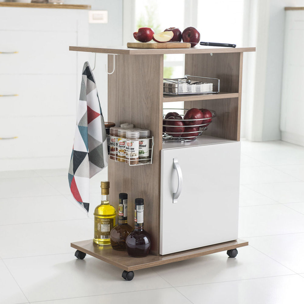 Mueble multiusos arcilla promart for Carrito auxiliar cocina