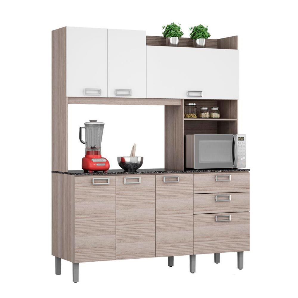 Mueble de cocina angie gris promart for Muebles para cocina baratos