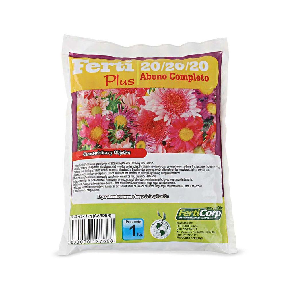 Fertilizante Granulado 20-20-20 1 kg - Promart