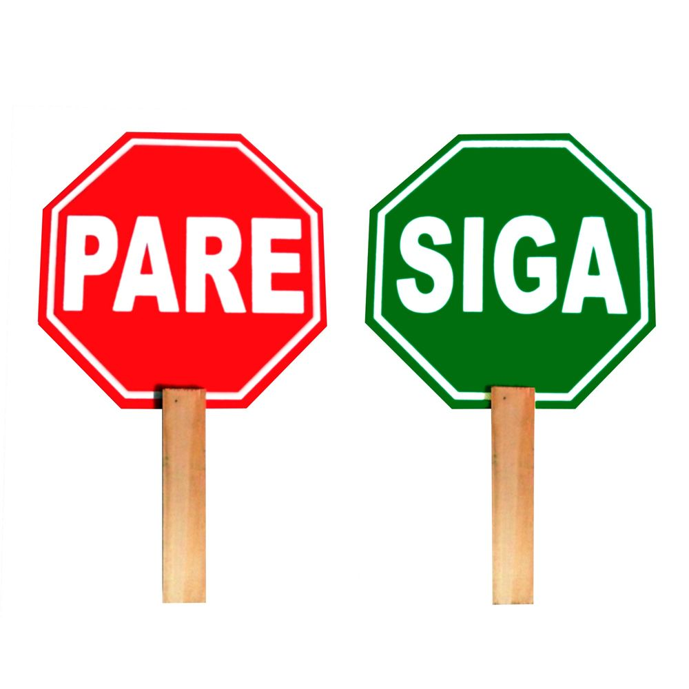Señal Paleta Pare/Siga - Promart