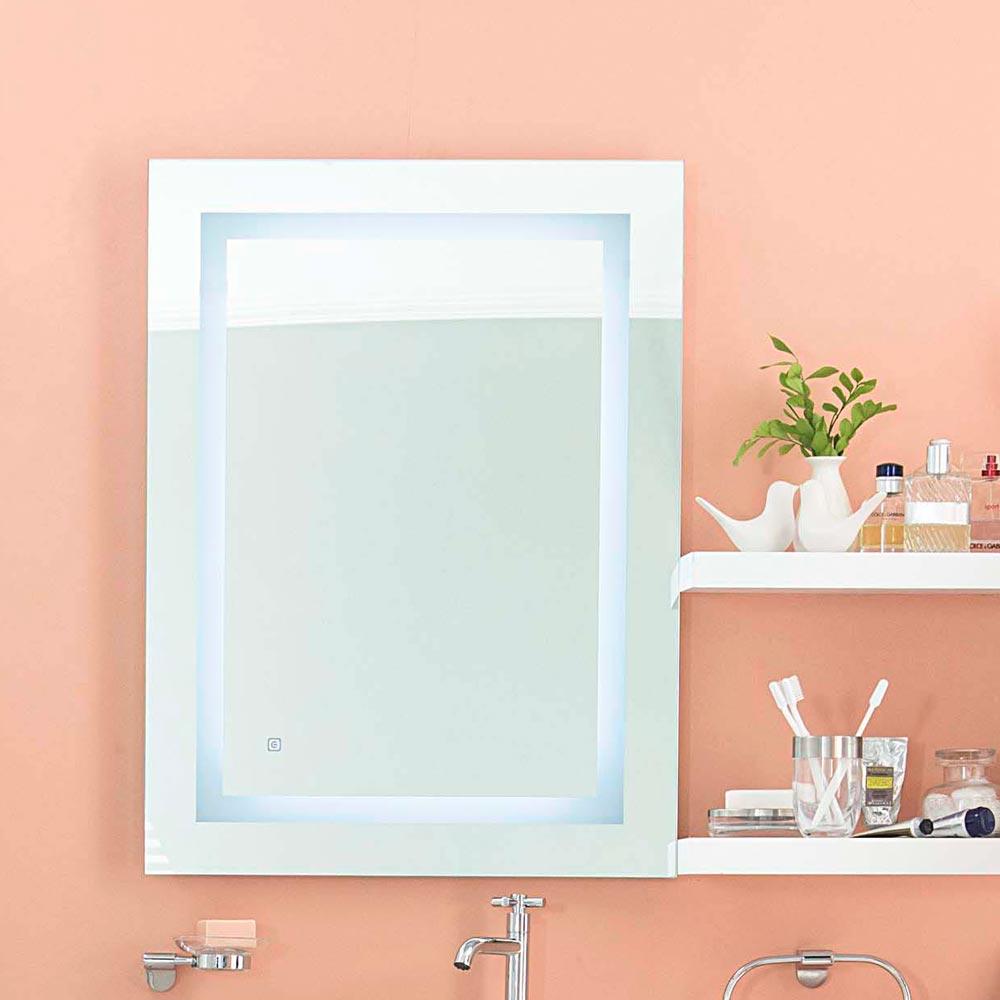 Espejo para ba o led cuadrado promart for Espejos originales para bano