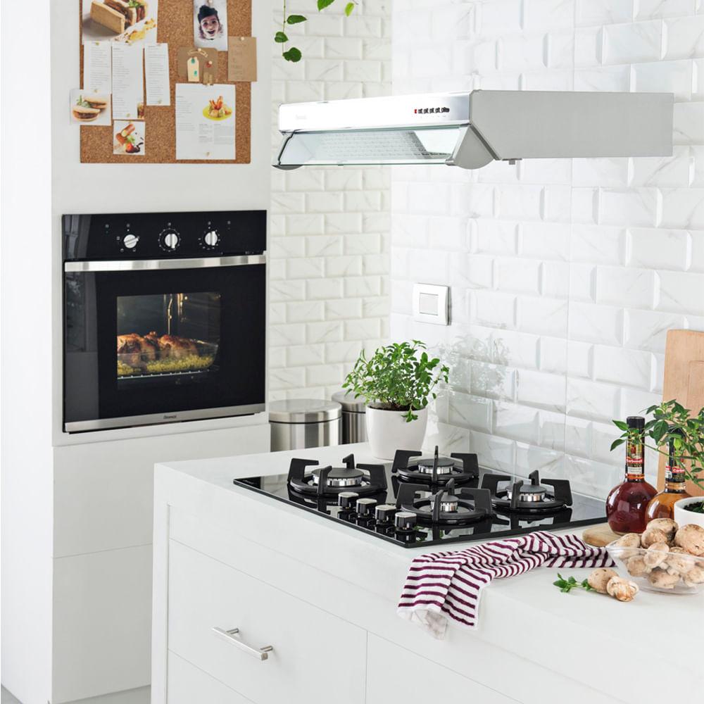 COMBO Cocina empotrable 60 cm + Campana 60 cm + Horno empotrable ...