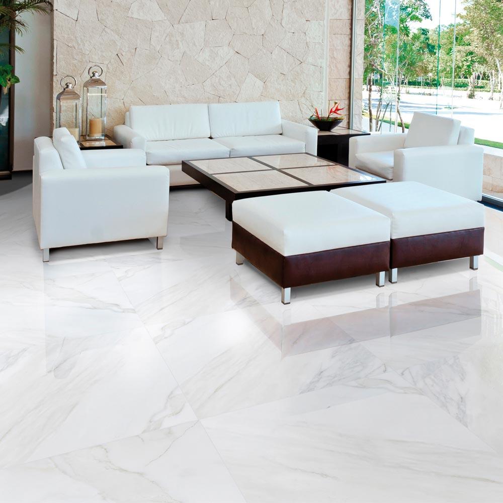 Piso gress marmolizado calacata 59x59 cm caja for Pisos de bancos y cajas