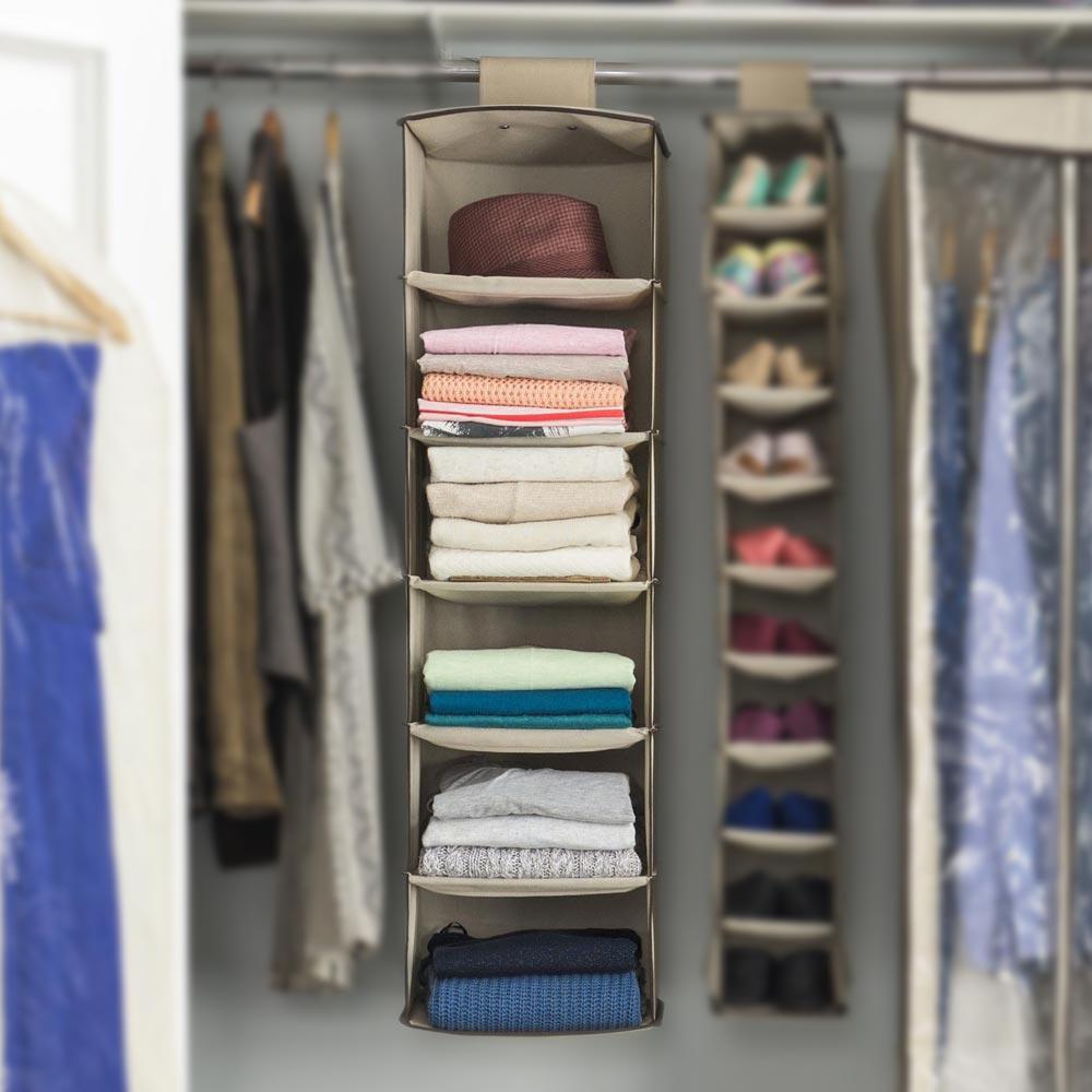 Organizador colgante para ropa 6 niveles promart for Organizadores para closet