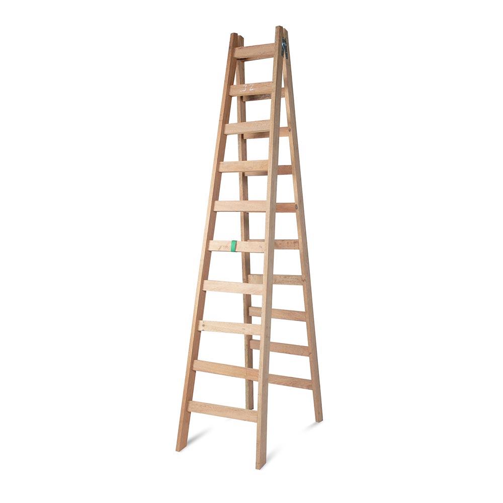 Escalera tijera de madera 10 pasos promart for Escaleras 8 pasos