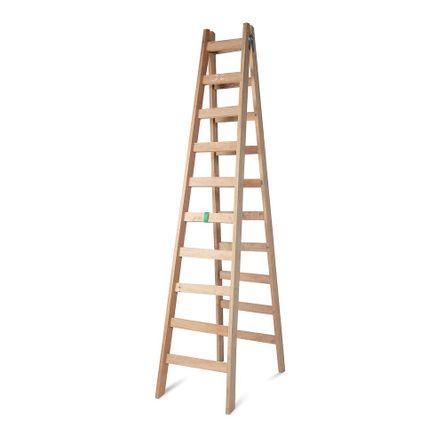Escalera tijera de madera 10 pasos promart for Escalera de madera 5 pasos
