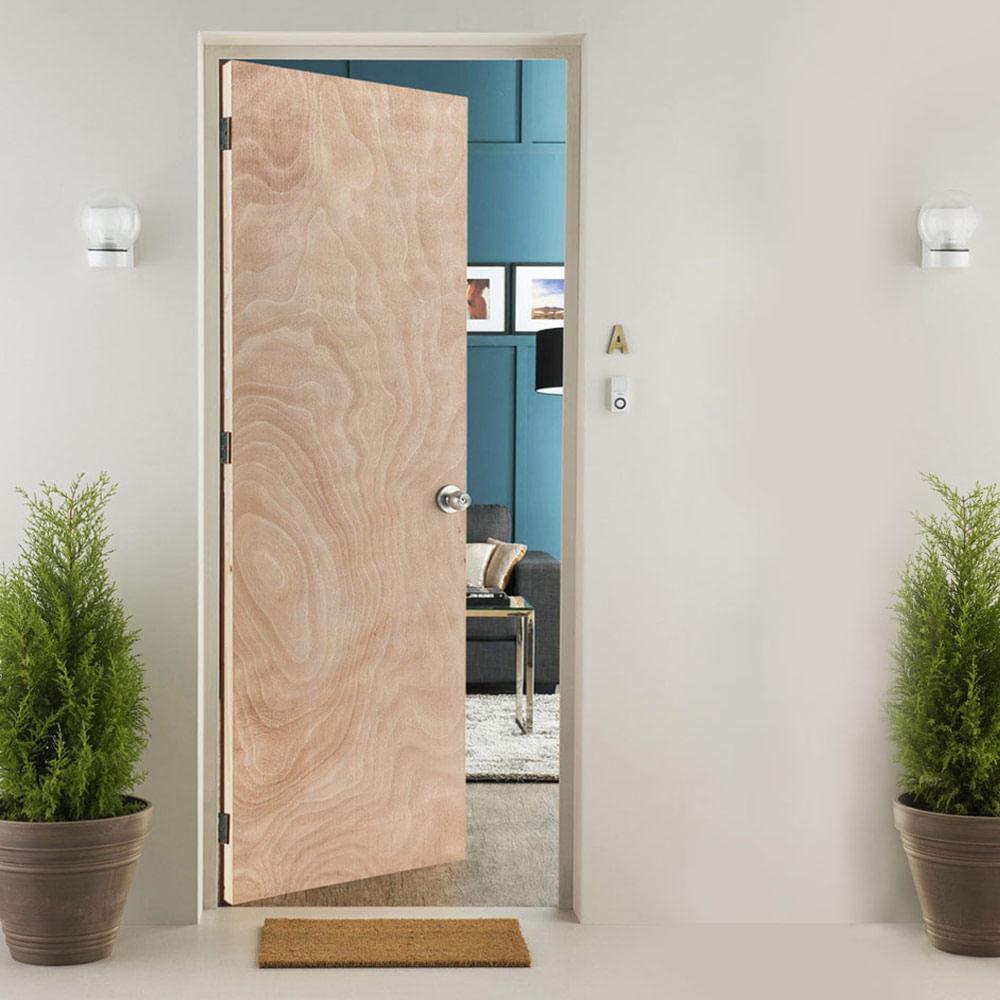 Puerta Contraplacada Vanela 85x207 cm + Marco Pino Natural - Promart