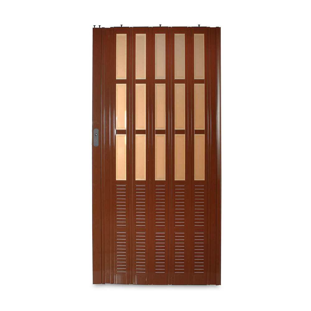 Puerta Plegable Canaima Nogal 10 mm 70x210 cm - Promart