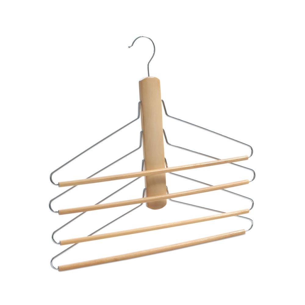 Colgador para camisas y pantalones 4 niveles promart for Ganchos colgadores pared