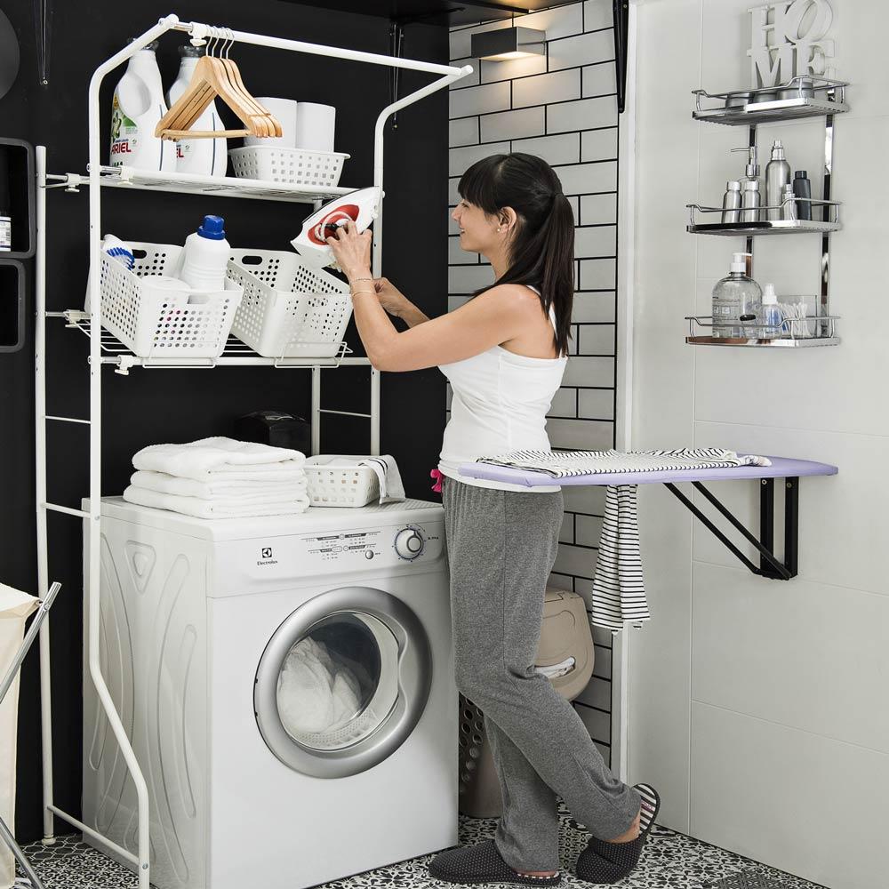 Organizador sobre lavadora promart - Rack lavadora secadora ...