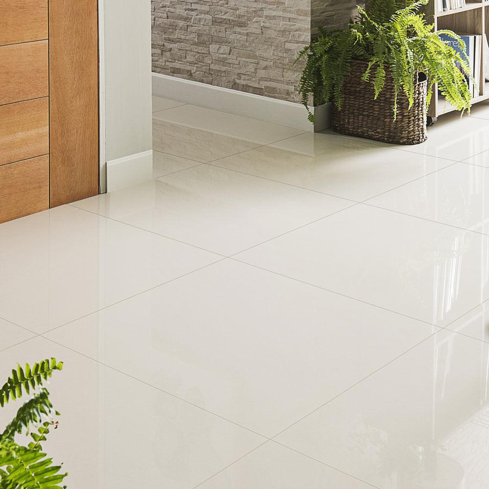 Piso porcelanato liso nano perla blanco 60x60cm promart - Como mantener brillante el piso de ceramica ...