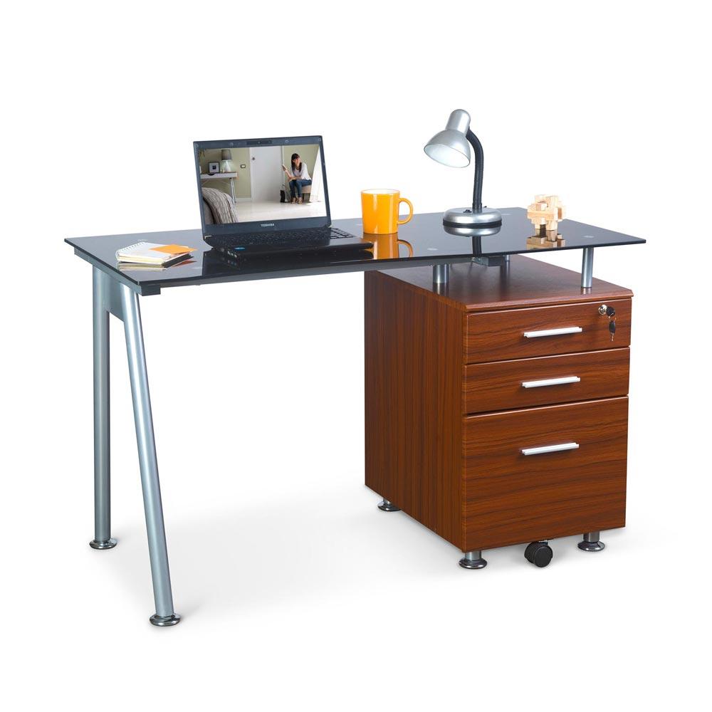 escritorio de vidrio danesa promart