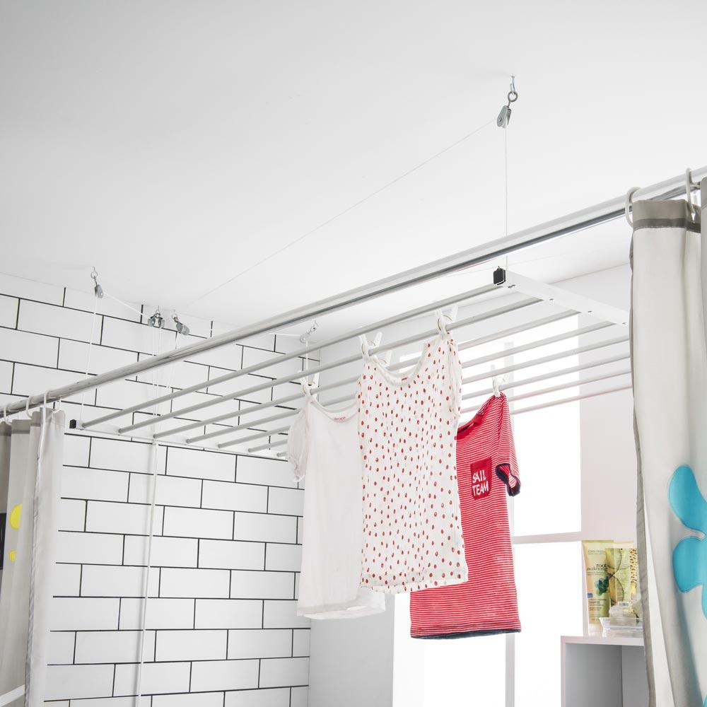 Colgadores de ropa de techo tendedero con poleas para el techo with colgadores de ropa de techo - Tendederos magor precios ...