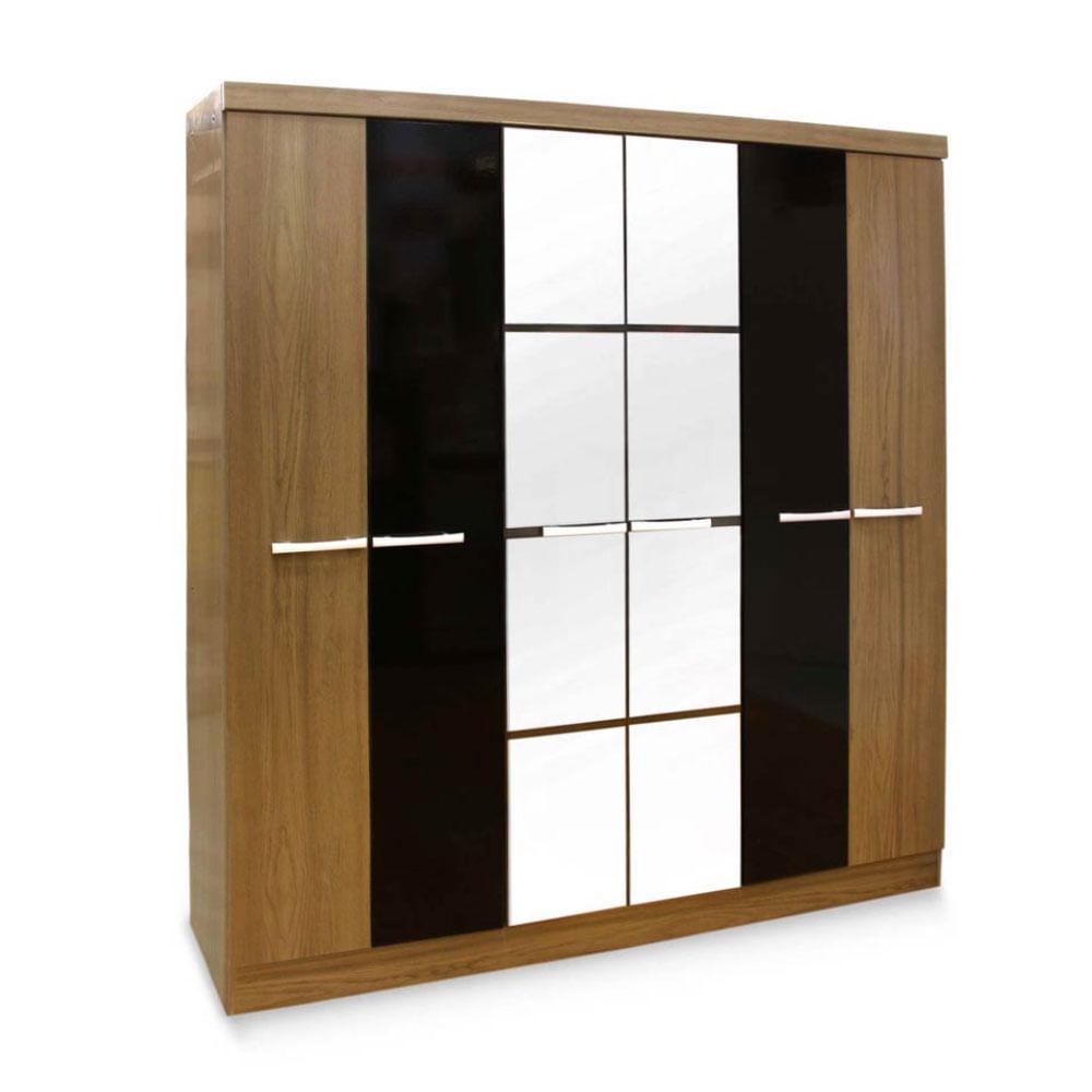 Ropero palermo con espejo 6 puertas 3 cajones promart for Zapateras de metal