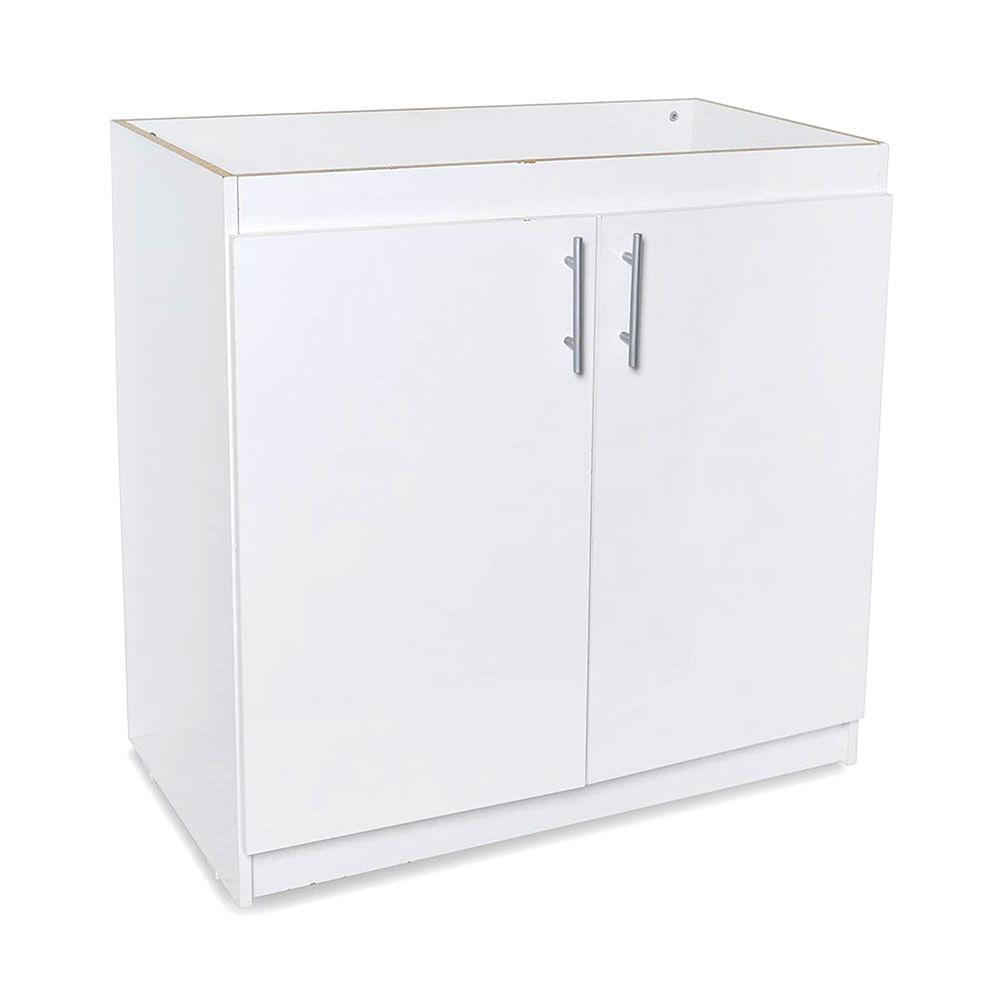 Mueble para cocina bajo lavadero 88 cm blanco promart for Lavadero de bano precio