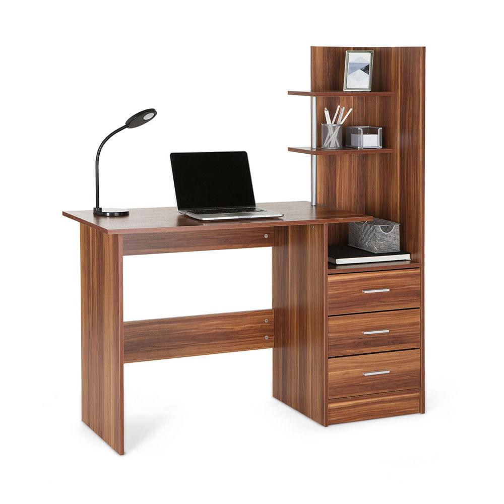 Escritorio con estante rabat marr n promart for Cotizacion de muebles para oficina