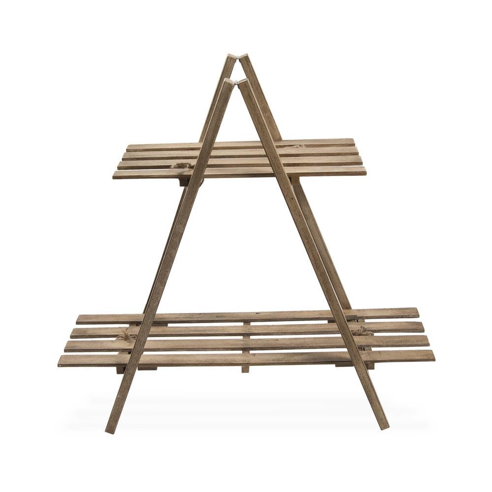 Escalera triangulo porta macetas madera promart for Escalera madera adorno