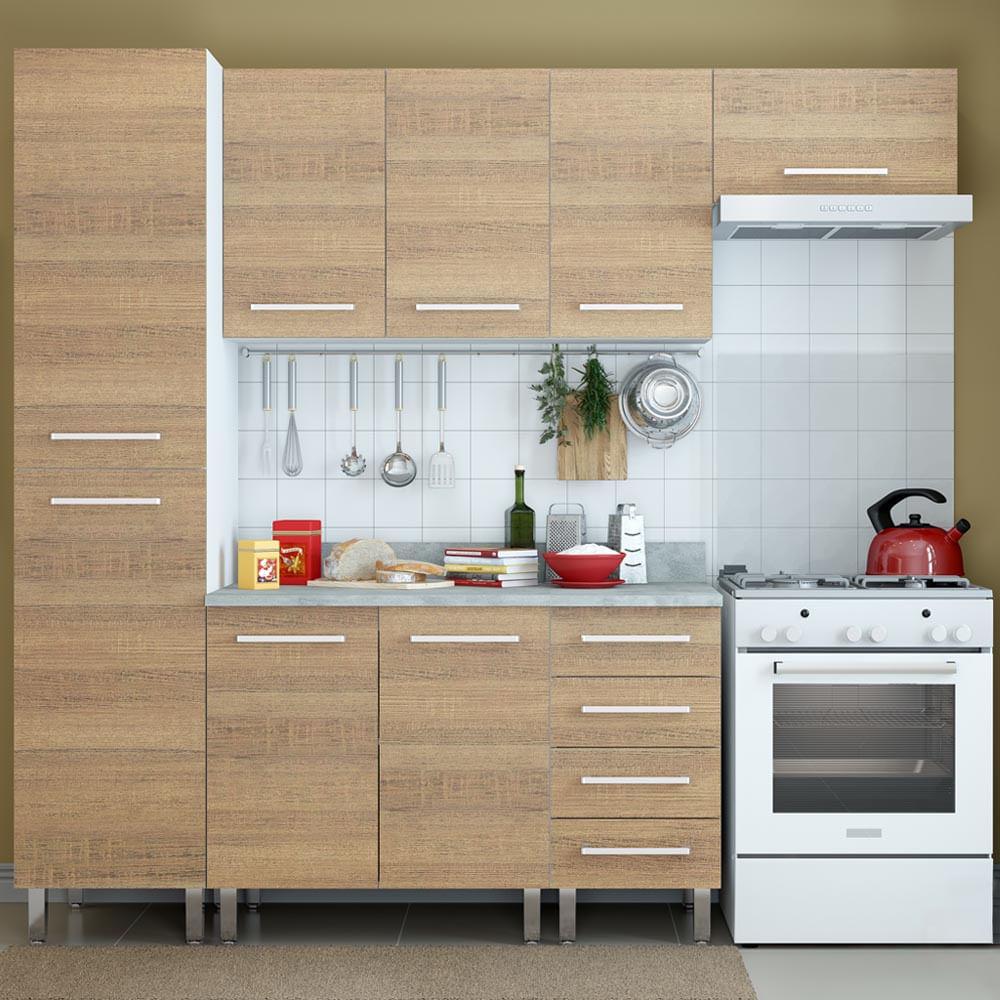 COMBO Muebles de cocina modulares 2.25 metros Avellana